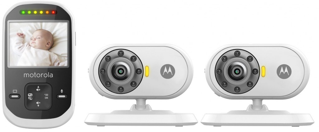 Motorola MBP25-2 Wireless 2.4 GHz Video Baby Monitor LCD Color Screen and Two Cameras, 2.4""